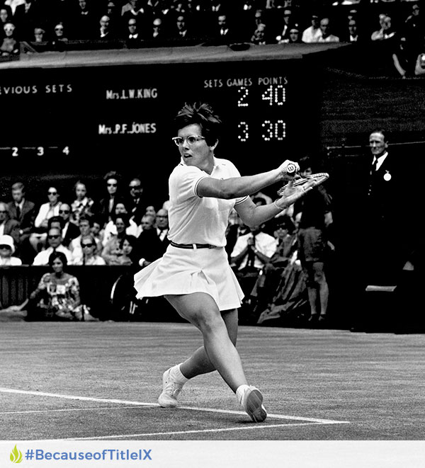 Because Of Title Ix Billie Jean King